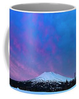 Mount Bachelor Dawn Sky Coffee Mug