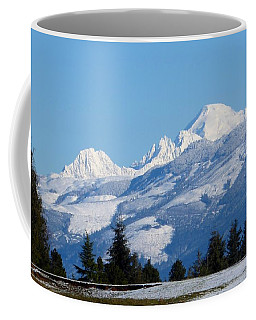 Coffee Mug featuring the photograph Mount Baker From Farm-to-market Road by Karen Molenaar Terrell