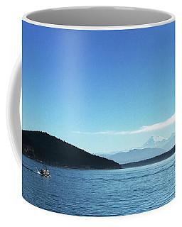 Coffee Mug featuring the photograph Mount Baker Looms by Lorraine Devon Wilke