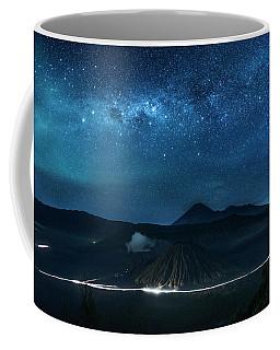 Mount Bromo Resting Under Million Stars Coffee Mug