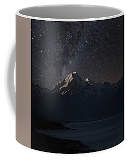 Mount Cook And Lake Pukaki At Night Coffee Mug
