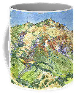 Coffee Mug featuring the painting Mount Diablo From Curry Valley Ridge by Judith Kunzle
