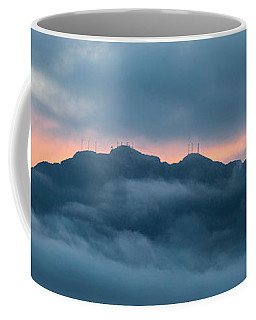 Mount Franklin Stormy Winter Sunset Pano Coffee Mug