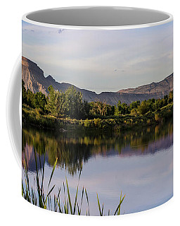 Coffee Mug featuring the photograph Mount Garfield In The Evening Light by Nadja Rider