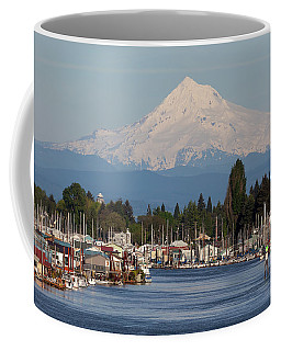 Mount Hood And Columbia River House Boats Coffee Mug
