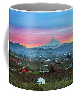 Mount Hood Over Hood River At Sunset Coffee Mug