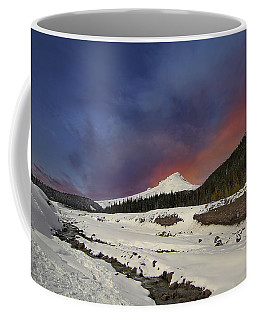 Mount Hood Winter Wonderland Coffee Mug
