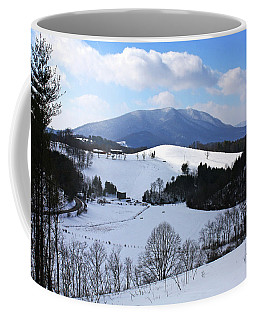 Mount Jefferson Winter Coffee Mug by Dale R Carlson