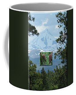 Mount Jefferson With Pines Coffee Mug by Laddie Halupa