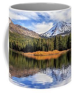 Mount Lassen Reflections Panorama Coffee Mug by James Eddy