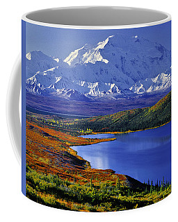 Mount Mckinley And Wonder Lake Campground In The Fall Coffee Mug