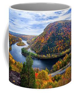 Coffee Mug featuring the photograph Mount Minsi by Mark Papke
