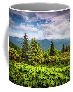 Mount Mitchell Asheville Nc Blue Ridge Parkway Mountains Landscape Coffee Mug