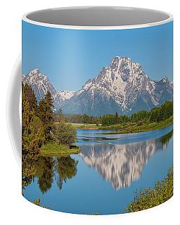 Mount Moran On Snake River Landscape Coffee Mug
