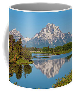 Mount Moran On Snake River Landscape Coffee Mug