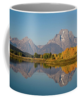 Coffee Mug featuring the photograph Mount Moran by Steve Stuller