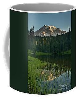 Mount Rainier Dawn Reflection Coffee Mug