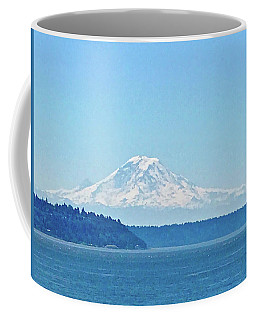 Mount Rainier From Puget Sound Coffee Mug