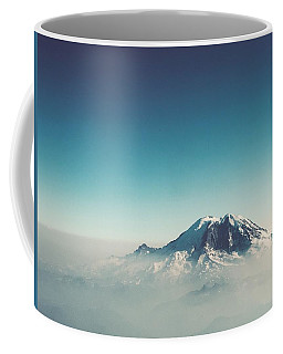 An Aerial View Of Mount Rainier Coffee Mug