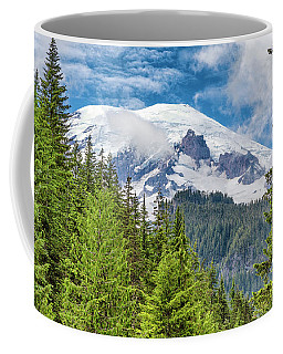 Coffee Mug featuring the photograph Mount Rainier View by Stephen Stookey