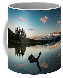 Mount Rundle And Two Jack Lake Coffee Mug