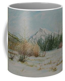 Mount Rundle In Winter Coffee Mug