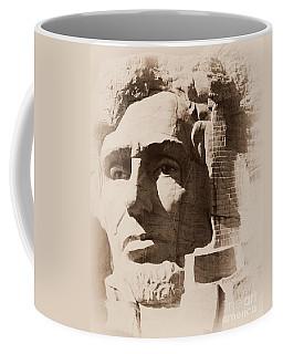 Mount Rushmore Faces Lincoln Coffee Mug
