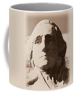 Mount Rushmore Faces Washington Coffee Mug