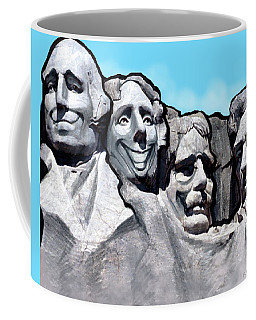 Coffee Mug featuring the digital art Mount Rushmore by Kevin Middleton