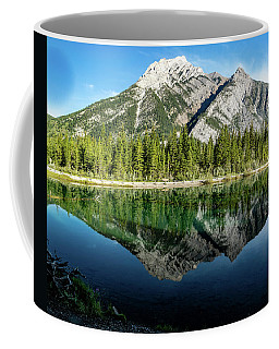Mount Skogan Reflected In Mount Lorette Ponds, Bow Valley Provin Coffee Mug