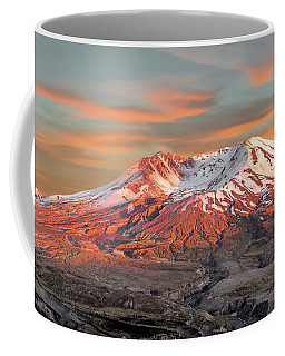 Mount St Helens Sunset Washington State Coffee Mug