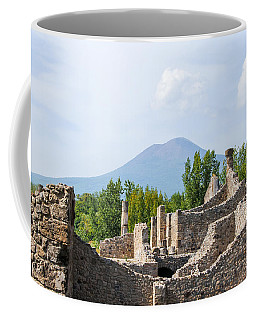 Mount Vesuvius Beyond The Ruins Of Pompei Coffee Mug
