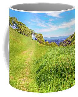 Mount Wanda Digital Watercolor Coffee Mug