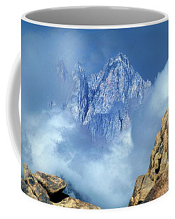 Coffee Mug featuring the photograph Mount Whitney Clearing Storm Eastern Sierras California by Dave Welling