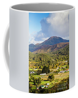 Mount Zeehan Valley Town. West Tasmania Australia Coffee Mug