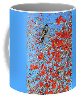 Coffee Mug featuring the photograph Mountain Ash Berries With Crow by David Pantuso