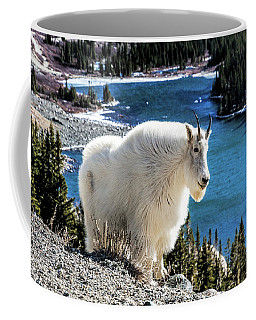 Mountain Goat At Lower Blue Lake Coffee Mug