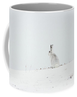 Mountain Hare Sat In Snow Coffee Mug