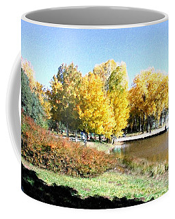 Mountain Lake Autumn Coffee Mug