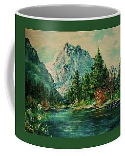 Mountain Lake Coffee Mug by Mary Wolf
