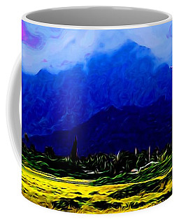 Mountain Landscape 1 In Abstract Coffee Mug