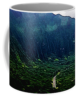 Mountain Landscape 15 In Abstract Coffee Mug