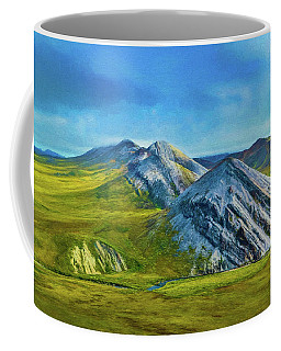 Mountain Landscape Digital Art Coffee Mug