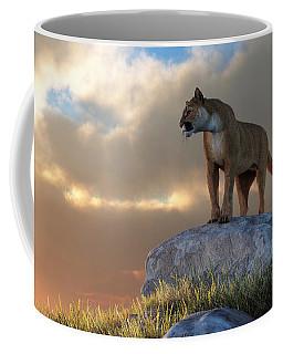 Mountain Lion Coffee Mug by Daniel Eskridge