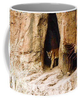 Mountain Lion In The Desert Coffee Mug