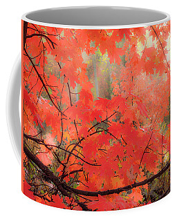 Mountain Maple Color Coffee Mug by Leland D Howard