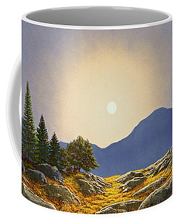 Mountain Meadow In Moonlight Coffee Mug