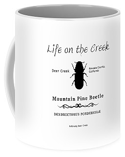 Mountain Pine Beetle Black On White Coffee Mug