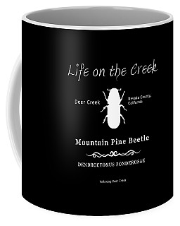 Mountain Pine Beetle White On Black Coffee Mug