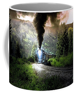 Coffee Mug featuring the photograph Mountain Railway - Morning Whistle by Robert Frederick